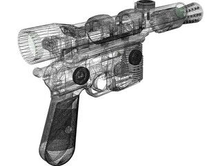 Star Wars DL-44 Blaster 3D Model