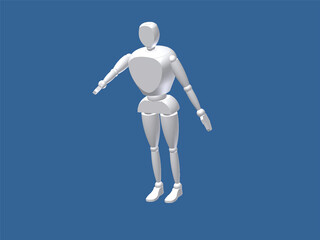 Anthropomorphic Man 3D Model