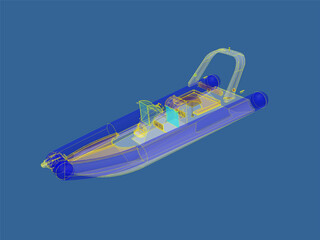 Rigid Inflatable Boat 3D Model