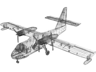Canadair CL-215 Firefighting 3D Model