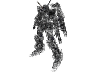 Gundam Unicon 3D Model