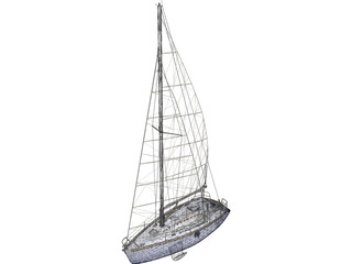 SL30 Sailing Ship 3D Model