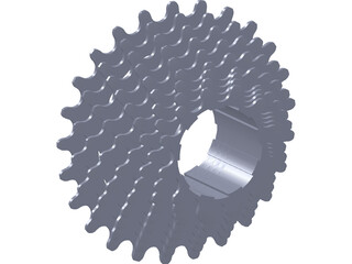 Cassette 9 Speed Rear 3D Model