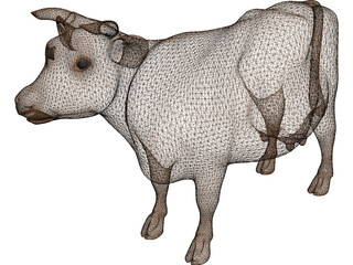 Young Cow 3D Model