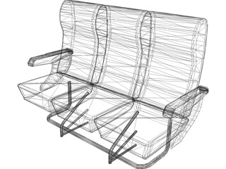 Seats Airplane 3D Model