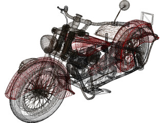 Indian Chief 348 3D Model