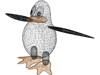 Linux Penguin 3D Model