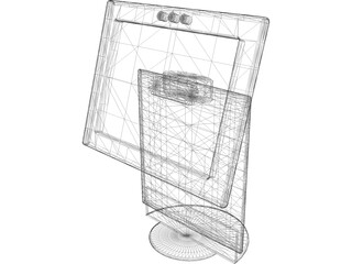 Monitor LCD 3D Model