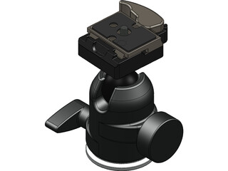 Manfrotto 488RC2 Ball Head 3D Model