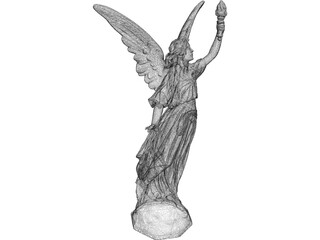 Angel Lucy Classical Statue 3D Model