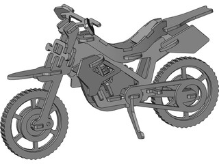 Plywood Motorcycle Enduro 3D Model