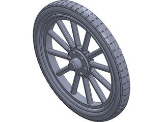 Wheel Rear Ford T 3D Model