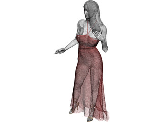 Woman in Wedding Dress 3D Model
