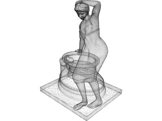 Classical Statue Woman Fountain 3D Model