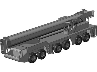 AC250 All Terrain Crane 3D Model
