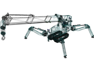 Maeda MC 285 Mini Crawler Crane 3D Model