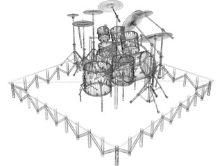 Drum Kit Big 3D Model