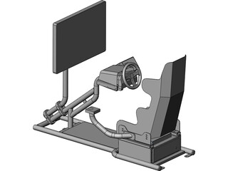Racing Simulator 3D Model