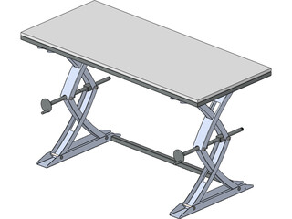Lifting Table 3D Model