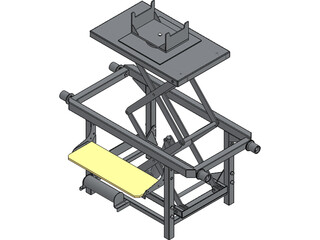 Trolley with Hidraulic Lifter 3D Model