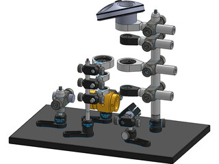 Miniature Confocal System 3D Model
