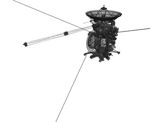 Cassini Orbiter NASA Probe 3D Model