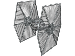 Star Wars Imperial TIE Fighter 3D Model