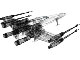 Star Wars Rebel X-Wing Fighter 3D Model