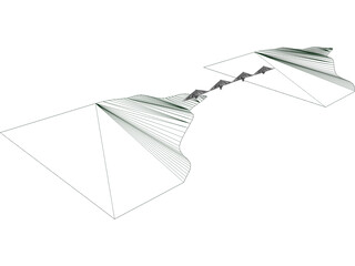 Rion Antirion Bridge 3D Model
