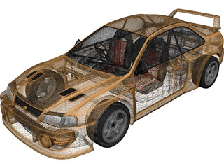 Subaru Impreza Coupe 3D Model