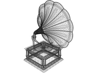 Gramophone 3D Model