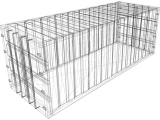 Shipping Container 20ft 3D Model