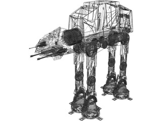 Star Wars Imperial ATAT 3D Model