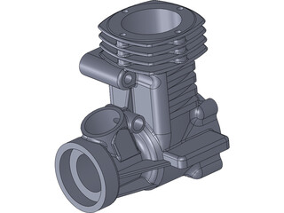 RC Engine Housing 3D Model