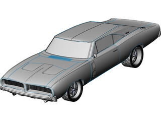 Dodge Charger RT (1968) 3D Model