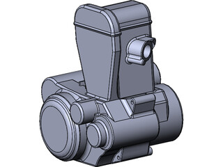 Suzuki DR-Z 400 Engine 3D Model