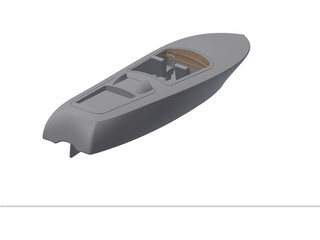 Riva Speed Boat 3D Model