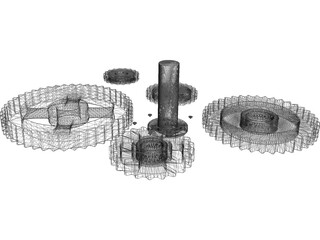 Gear Wheels 3D Model