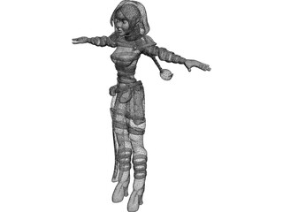 Elf Female 3D Model
