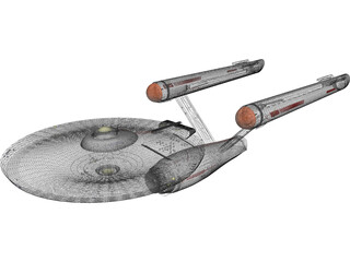 Star Trek Ship 3D Model