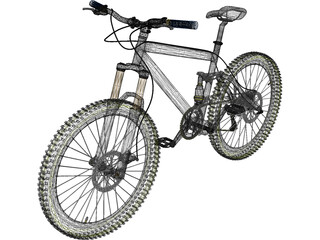 Bike Mountain Trail 3D Model