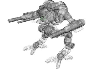 Uziel Battletech 3D Model