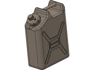 Water Container Military 5 Gallon 3D Model