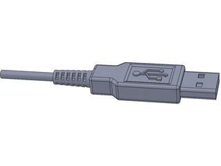 USB Port Connector 3D Model