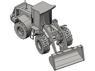 Hitachi Wheeled Loader 3D Model