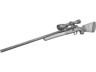 Remington Model 70 Hunting Rifle 3D Model