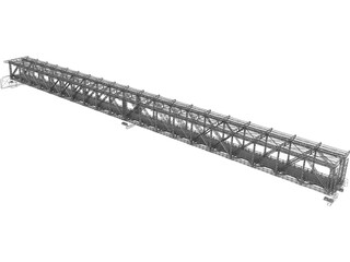 Steel Truss Bridge (1908) 3D Model