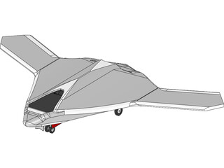 X-47B Unmanned Drone 3D Model