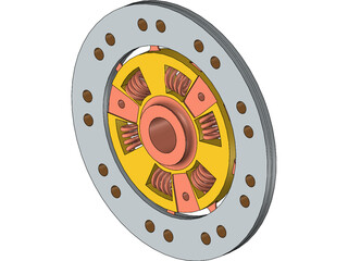 Mechanical Clutch Friction Plate 3D Model