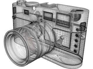 Leica M8 Digital Camera 3D Model